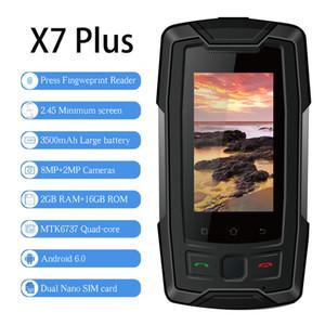 "SERVO X7 Artı 2.45 ""MTK6737 mini Smartphone 4G Açık Cep telefonu IP68 Su Geçirmez RAM 2 GB ROM 16 GB Parmak İzi NFC GPS Cep Telefonu Walkie"