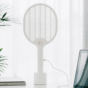 Xiaomi Youpin JJ Elétrica Mosquito Swatter recarregável LED elétrica Insect Bug Fly Mosquito dissipador assassino Racket 3-Layer Net