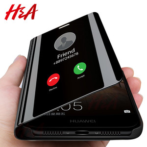 Ha Clear View Smart Case Téléphone Miroir Pour Huawei P20 P30 Lite Pro Mate 20 Lite Pro Case Smart Flip P30 P20 Lite Couverture Kickstand