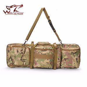 85CM التكتيكية الثقيلة زلة حمل المزدوج مول بندقية حالة بندقية حقيبة الكتف لM4 الصيد الادسنس العسكرية الحقيبة الصيد الظهر T191204
