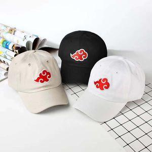 100% хлопок японский Акацуки логотип аниме Наруто папа шляпа Учиха семья логотип вышивка бейсболки черный Snapback шляпы челнока