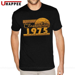 45th Birthday Classic 1975 45 Year Awesome Tees Shirt Youth Urban T Shirts Homme Short Sleeved Low Price Apparel