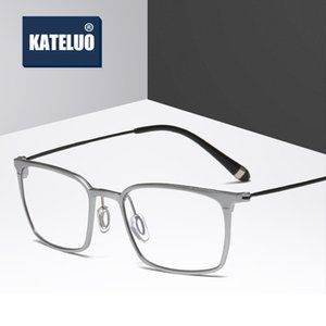 KATELUO Computer Goggles Anti Blue Laser Ray Fatigue Radiation-resistant Square Glasses Eyeglasses Frame Eyewear J805