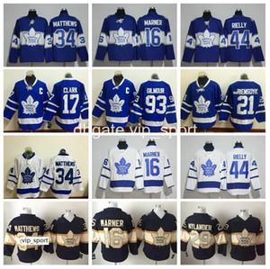 Chandails de hockey des Maple Leafs de Toronto Classique du centenaire hommes 44 Morgan Rielly 17 Wendel Clark 93 Doug Gilmour 21 James van-Riemsdyk