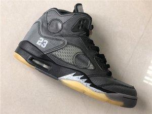 New 5 V 5S baixos cinza preta Men Basquete sapatos amarelos tênis esportes formadores exteriores com tamanho da caixa MELHOR QUALIDADE 7-13