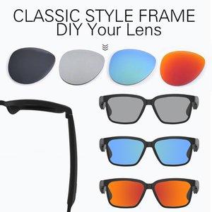 Designer óculos de sol Bluetooth 5.0 Moda Mulheres Mens Sunglasses suporte de voz controle sem fio óculos de sol UVA / UVB