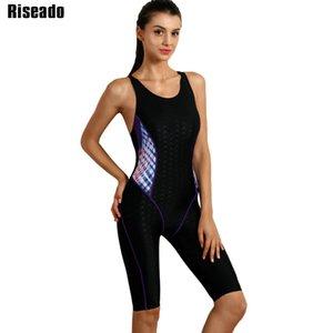 Riseado Sport Costume intero 2020 Suits Costumi da bagno donna imbottito Backless Piscina di balneazione professionale Swim Wear