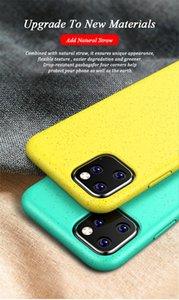 Neue heißen Verkauf Okologisches Weizenstroh Biodegradable Telefon-Kasten für iPhone 11 iphone SE 2 Samsung Huawei 6 Farben erhältlich