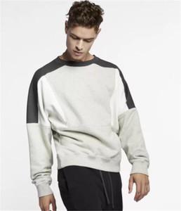Autunno Patchwork Colori dei Hoodies del Mens O manica collo lungo Coppie allentati Felpe Fashion Designer maschile Abbigliamento