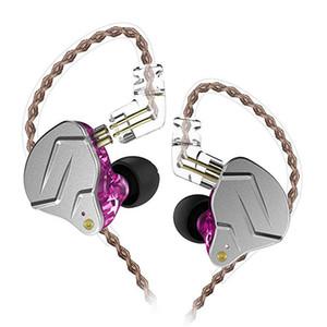 Écouteurs filaires KZ ZSN Pro Écouteurs en métal 1BA + 1DD Hybrid Technology HIFI Basse Écouteurs intra-auriculaires Moniteur d'oreille Sport 3.5mm Casques avec réduction de bruit