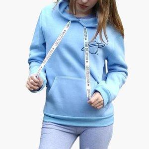 Brand Female Hoodies Women Long Sleeve Hooded Sweatshirt Universe Print Tracksuit Sweat Coat Autumn Casual Sportswear
