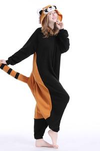 Yeni Hayvan Yetişkin Raccon Pijama Yüksek Kaliteli Karikatür Ayaklı Kigurumi Onesies Cosplay Kostümleri Kadın Erkek Için
