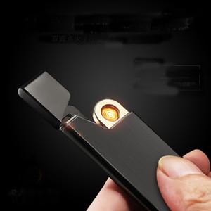 USB-elektrisches Lighter Ladeultradünne windundurchlässiges Flameless Feuerzeug mit Geschenk-Box gut