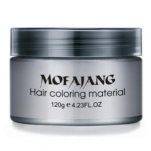 Mofajang Hair Color Wax for hair styling Mofajang Pomade Strong style restoring Pomade wax big skeleton slicked 9 colors