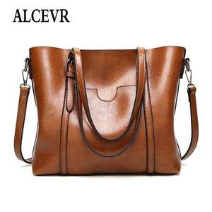 Alcevr Bolsos de lujo Bolsos de mujer Diseñador Outlet Tote Bolsos de hombro para cuero suave de gran capacidad Vintage bolso de marca famosa