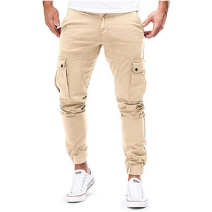 QNPQYX Autumn Men long sports Pants Hip Hop Harem running Pants 2020 New Male Trousers Mens Solid Multi-pocket Sweatpants