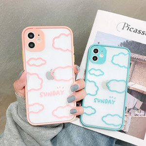 Matte hard silicone phone case For iPhone7 8 6 6s Plus 10 11Promax 11 11Pro X XR XsMax SE2020 Varnish Clouds pattern back cover