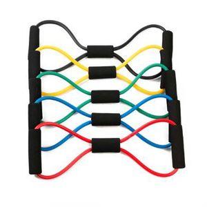 Sport 8 retto estraibile allenamento di resistenza Bands tubo della fune di allenamento esercizio di yoga Fasce Sport Snellente Corpo Attrezzature strumento di resistenza di ginnastica