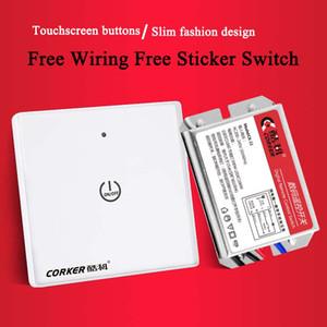 Touch Panel Remote Control Switch wireless digitale interruttore a distanza libero Sticker 220V libera Cablaggio multi controller