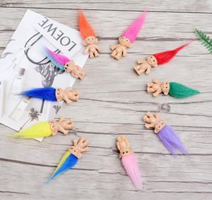 Crianças Brinquedo Colorido Troll Boneca Família Membros Da Família Papai Mamãe Menina Do Bebê Leprechauns Barraca Trolls Bebê Crianças Brinquedo Presentes