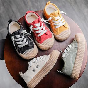 Zapatos de moda lona de los niños de las muchachas de Plimsolls Cowhells Suela zapatillas de deporte casuales Deporte diseñador de zapatos de lona zapatos de los niños del resorte 23-30 regalo