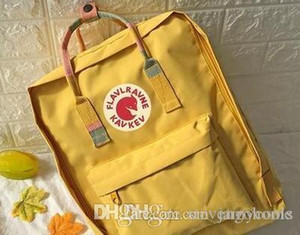 Original Cheap Yellow Unisex Schoolbag East Arctic Fox Backpacks Waterproof Backpacks For Couple Travel Children Mini Backpacks On Sale