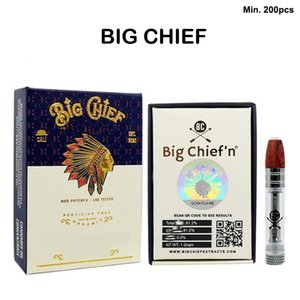 Big Chief Ceramic Vape Cartridges With Packages Wooden Tips Glasses Vape Carts 510 Thread Empty E-Cigarette For Thick Oil