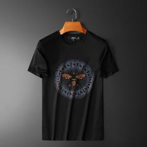 Europeo 2020 Manica Corta T-shirt Da Uomo Galaxian Sette colori strass cotone mercerizzato moda