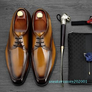 MYCOLEN 2018 Luxury Fashion Men Shoes Minimalist Design Casual Derby Shoes For Men Pointed Toe Dress Wedding s01