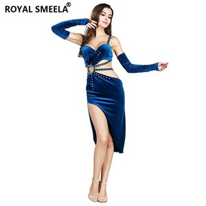 Stage Wear Belly Dance Costume Set Bellydance Pratice Clothing Connected Bra+Skirt+Arm Sleeve --8837
