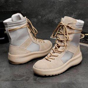 Nouvelle bonne qualité KANYE marque bottes meilleur des hommes Hight Armée Bottes de l'armée de Dieu et les chaussures de mode Martin bottes de V01