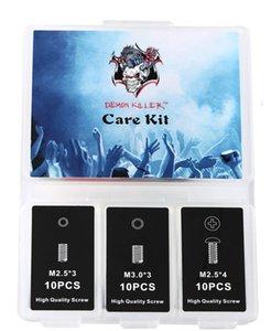 Demon killer Care Kit E-cig Herramientas con llave Allen Bobina de limpieza Herramientas Vape Bandas Tornillos Para RDA RTA Tanques atomizadores Bobina Vape DHL