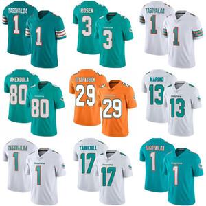 Benutzerdefinierte Frauen der Männer Jugend Miami 1 Tua Tagovailoa Dolphin Dan Marino Jason Taylor Josh Rosen DeVante Parker Minkah Fitzpatrick Kinder Trikots