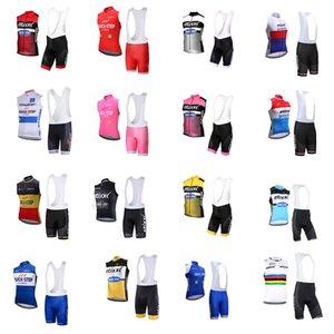 Quick Step Team Radfahren Sleeveless Jersey Weste BIB Shorts Sets Herren Sommer Schnelltrocknen Sanfte MTB Kleidung Outdoor Sports X71868