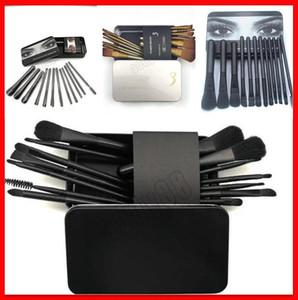 Hot 12pcs / Set Maquiagem Escova De Maquiagem Face Creme Power Foundation Escovas multiuso Beleza Escovas de ferramentas cosméticas Conjunto com caixa 12pcs / Set 3Types