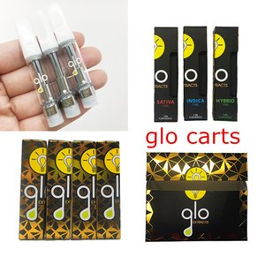 GLO Extracts 1ml 0.8ml Cartridges Vape Tanks 510 Thread Carts Ceramic Coil Disposable Vaporizer Pen Thick Oil Electronic Cigarettes Atomizer
