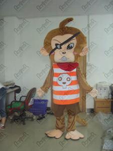 korsan maymunlar kostümleri karikatür maymun yürüme aktör sıcak satış maymun kılık DİREK YILDIZ maskot kostüm maskotu