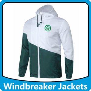 Groningen rompevientos fútbol chaquetas sudaderas con capucha, Deportes Groningen capucha cazadora a prueba de viento hombres abrigo de invierno de fútbol Operando chaquetas