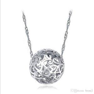 trafic routier creux en forme de coeur de pêche à travers les perles stands pendentif boule percées exquis fournitures collier bijoux des femmes pendentif