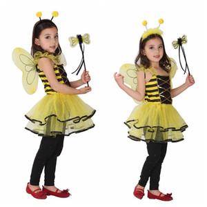 Дети Дети Хэллоуин Косплей костюмы для девочек животных пчелы одежды с волос Палочки косплей Одежда для мальчиков / девочек шоу Stage
