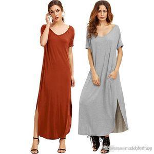 Verão 2018 Mulheres Retro meia luva Casual vestido Bohemia soltas Sólidos Cor Branco vestido longo Túnica Camisa Vestidos Vestido de escritório