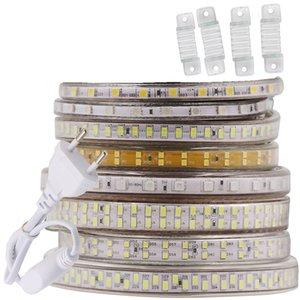 240Leds / m LED 스트립 SMD 5730 2835 5050 5630 220V 240V 방수 LED 테이프 로프 RGB의 따뜻한 화이트 홈 장식