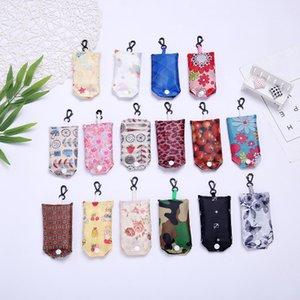 Sac de rangement Latest Home Storage Nylon Pliable Shopping Bags Réutilisable Vert Pliant Sacs Shopping Sac New Ladies Storage Bag EEA221