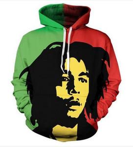 Новая мода толстовки Bob Marley 3D печати Мужчины Женщины Спорт толстовка дизайнер толстовка пуловер с длинным рукавом уличная LMS078