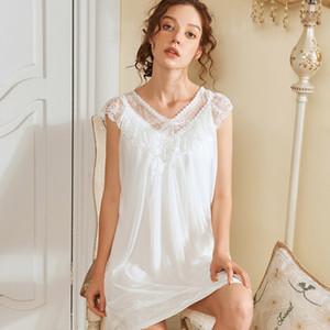 Yaz Serin Yumuşak Kolsuz Yay Kadın Gecelik Pijama Tatlı Sevimli Prenses Tarzı Genç Kız Bayanlar Uyku Elbise Ev Otel