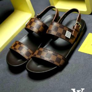 nouveau cuir sandales hommes de mode de haute qualité caoutchouc antidérapante semelle extérieure chaussures hommes occasionnels maison chaussures de luxe en plein air