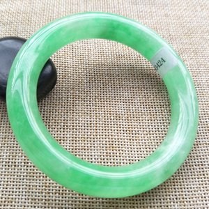 Pay4U 57mm Certificado (Grau A) 100% natural Lavanda jadeite jade bracelete Bangle A424