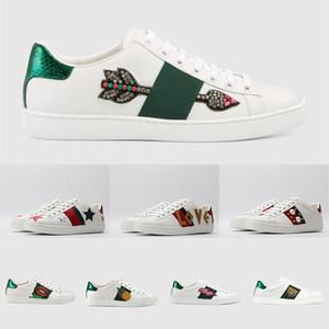 Büyük ağız Eğiticilerin ok Bay Bayan Aşıklar Moda Deri Ayakkabı Üçlü Beyaz Vintage Siyah Mens Sneakers Yıldızı İçin ACE Tasarımcı Ayakkabı