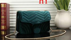 2020 borsa nuova catena di amore sacchetto di gioielli cosmetici sacchetto di inclinazione spalla in velluto borsa trasversale grande marca di velluto oro delle donne borse 24X8X15CM