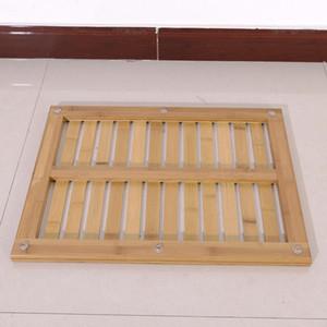60.5x45x3cm Madeira Cor Bamboo Floor Bath Mat para o banheiro SPA e piscina